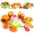 Chica cocina pretend play mini gourmet pastel de verduras fruta cortada conjunto set de regalo educativo de los niños toys