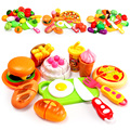 Menina cozinha pretend play mini gourmet bolo de legumes frutas cortadas conjunto jogo do presente das crianças educação toys