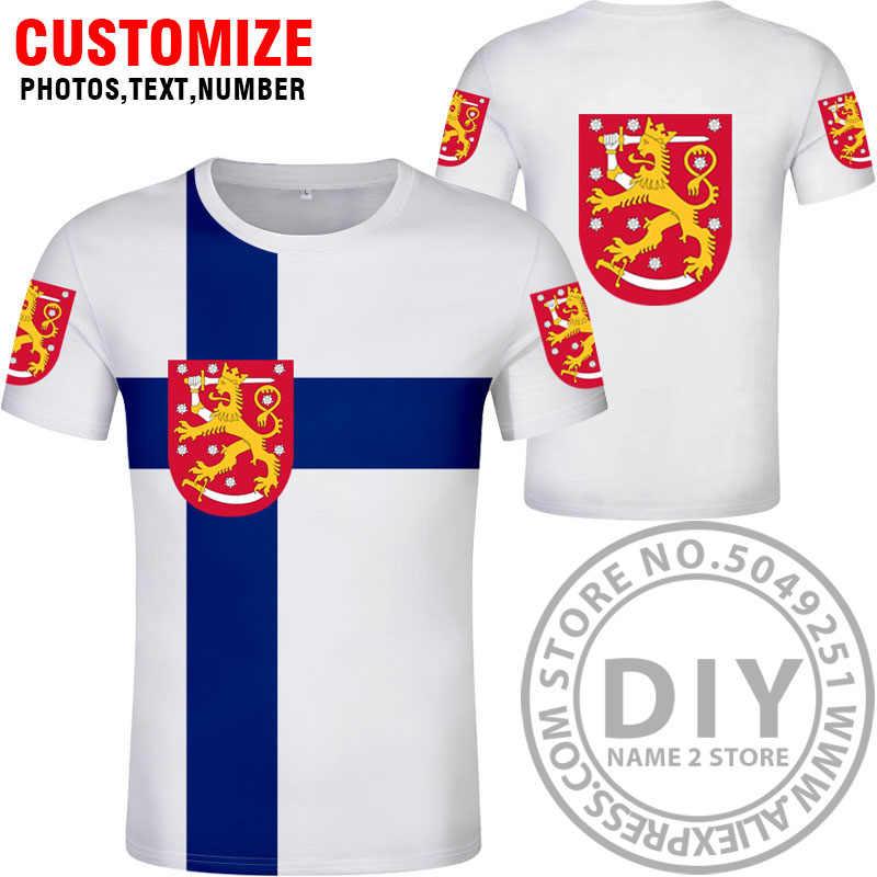 Финская футболка, Бесплатная, на заказ, с именем, fin, футболка, национальный флаг, финский, шведский, suomi, с принтом, для колледжа, фото, сделай сам, одежда для страны