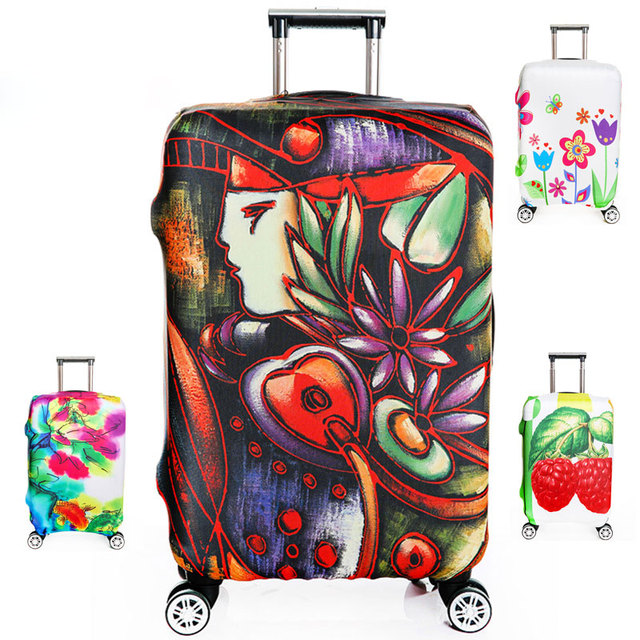 Thickening Elastic Suitcase Cover Fashion Luggage Protective Sleeve Trolley Bags Cover for Dust , Travel Accessories