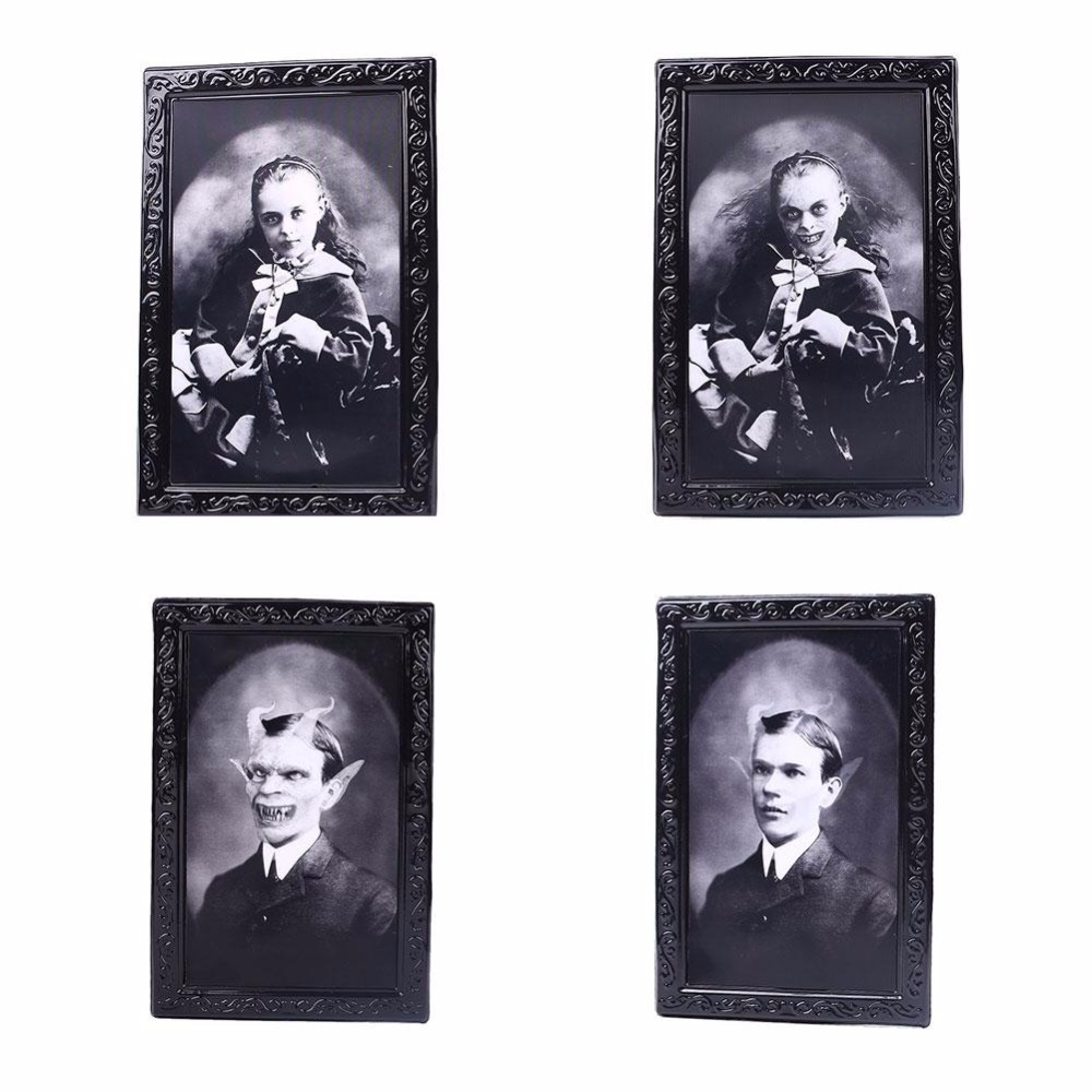 Changeable 3D Ghost Photos Frame Halloween Decoration Spooky Bachelorette Party Supplies Craft Supplies Halloween Props