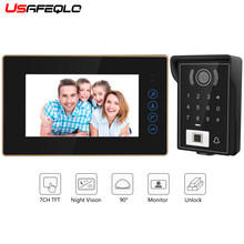 USAFEQLO 7 ''TFT LCD Bedraad Video Deurtelefoon Visual Video Intercom Speakerphone Intercom Systeem Met Waterdichte Outdoor IR Camera