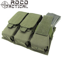 Rocotactical軍事molle戦術トリプルマガジンポーチ用m4/m16ライフルピストルmagポーチアーミーグリーン/タン/ブラック/cpマルチカ