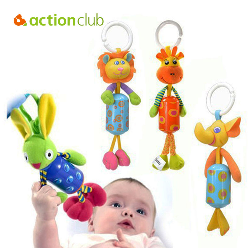 New Baby Toy Mobile Baby Educational Bed Car Stroller Hanging Rattles Toys For Kids Baby Cot Beds Plush Toys Kawaii Animal HK909