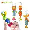 Nuevo Cochecito de Bebé de Juguete Móvil Del Bebé Educativo Cama Coche Colgando Sonajeros juguetes Para Niños Cuna Camas Peluches Kawaii Animal HK909