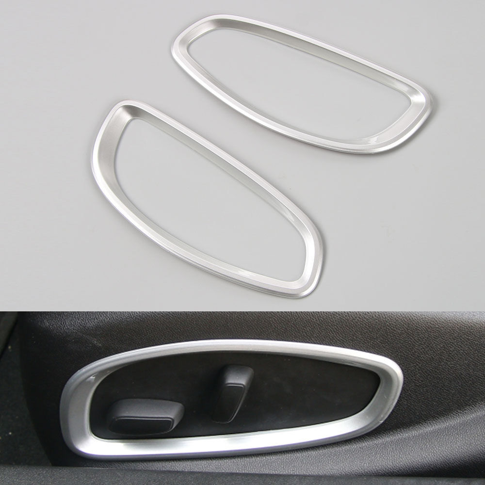 Auto Car Inner Seat Adjust Button Circle Frame Trim Sticker Decorative ABS Fit For Chevrolet Camaro 2017 Car Styling Accessories