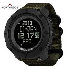NORTH EDGE Digital Wristwtaches Waterproof Watch Black Clock