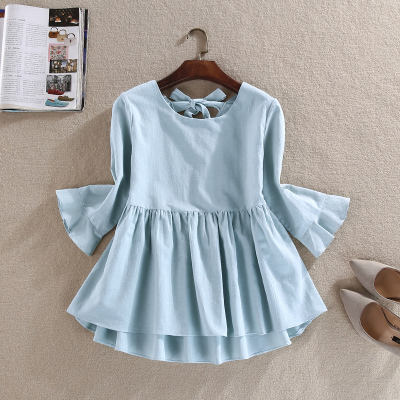Azul Muñeca Sets Camisas Rojo Manga Iris Cielo Rosa Lino 3697 Camisa Media Back Verde Blanco Blusa Algodón Slim Suelta Mujeres q4F1zn8O4