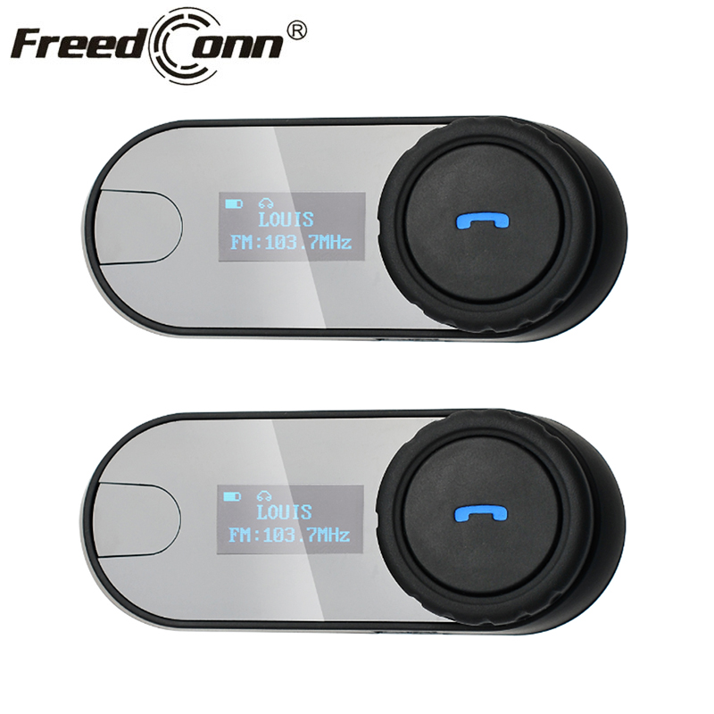 2pcs FreedConn TCOM SC Helmet Headset Bluetooth Motorcycle Helmet Intercom Moto BT Interphone Headset FM radio