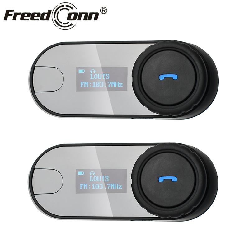 2 pièces affranchi TCOM-SC casque casque casque Bluetooth Moto casque Interphone Moto BT Interphone casque FM radio écran LCD