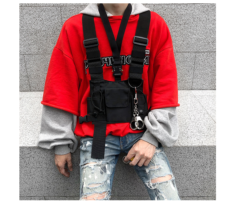 HTB11m1mJ9zqK1RjSZFHq6z3CpXaW - adjustable Black Vest Hip Hop Streetwear Functional Tactical Harness Chest Rig Kanye West Waist Pack Chest Bag Fashion Nylon c5