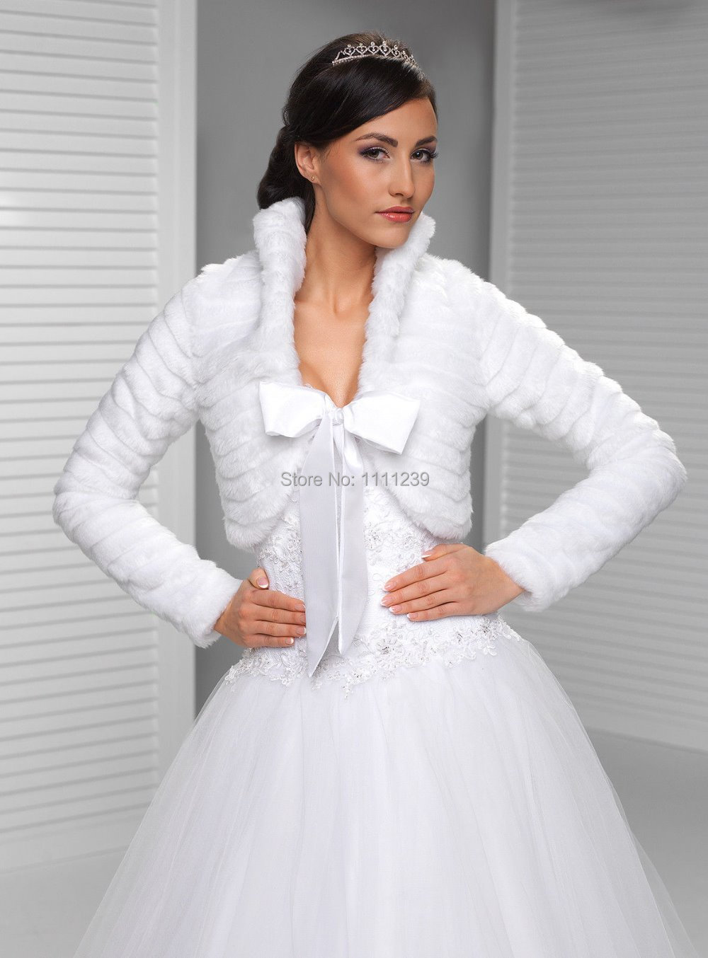vison de mariage ivoire blanc en fausse fourrure bolro de marie bolero veste manteau ds0613 - Bolero Mariage Blanc