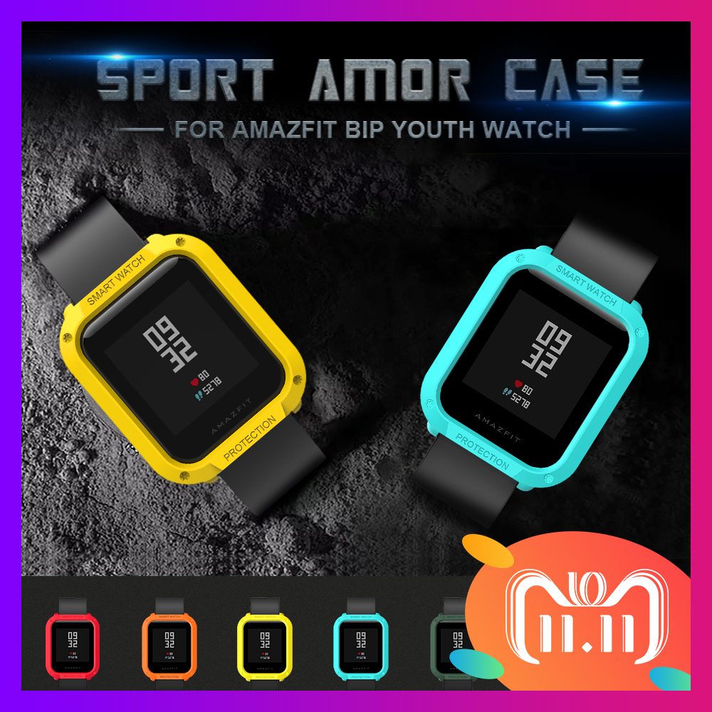 все цены на SIKAI Tough Armor Protective Case Cover for Amazfit Bip Youth Watch protector for Xiaomi Huami Amazfit Bip Youth Watch Case онлайн