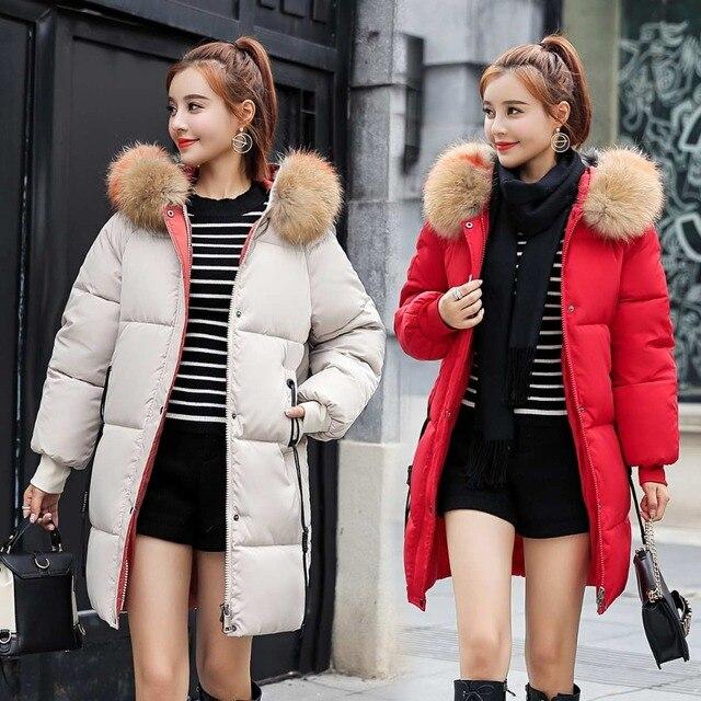 zozowang 2018 New yellow Winter Jacket Women Parka Fake Fur Collar Down Wadded Female outerwear Cotton-Padded Jackets Women Coat 3