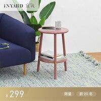 InYard Original Circle Side High Light Bedside Table Sofa Side Table Tea Table Nordic Solid
