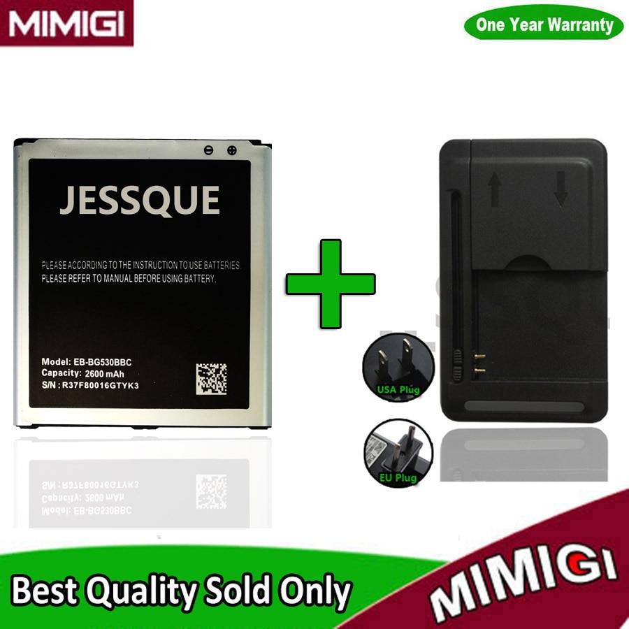 1 Conjunto = 1 PC 100% Original 2600 mAh Bateria Para Samsung Galaxy Grande Prime G5308W J3 2016 G530 G530F G531F G530F AKKU + 1 PC Carregador