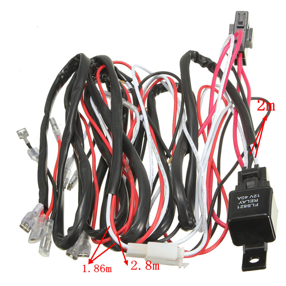 ee support 40a 12v car rocker switch relay fuse wiring harness kit ee support 40a 12v car rocker switch relay fuse wiring harness kit led light fog two light car styling xy01 in switches from automobiles motorcycles on