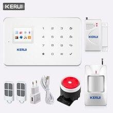 KERUI G18 bezprzewodowy domowy System alarmowy GSM Alarm antywłamaniowy zestaw czujników z funkcją automatycznego wybierania wykrywacz ruchu czujnik kontrola aplikacji