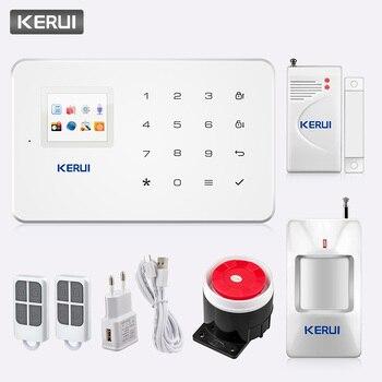 KERUI G18 inalámbrica GSM sistema de alarma de seguridad para el hogar de alarma antirrobo Sensor Kit con Dial Auto Detector de movimiento de Sensor de Control de APP