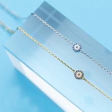 MloveAcc Luxury 925 Sterling Silver Woman Bracelet Blue CZ E