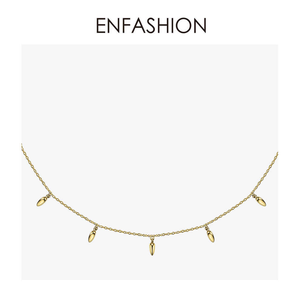 Enfashion Wheat Choker Necklace Women Statement Pine Nut Chain Necklaces Gold Color Boho Holiday Jewelry Collier Femme PM193002