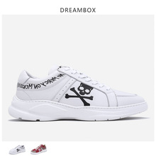 Mens shoes sports leather English letters casual fashion wild boys