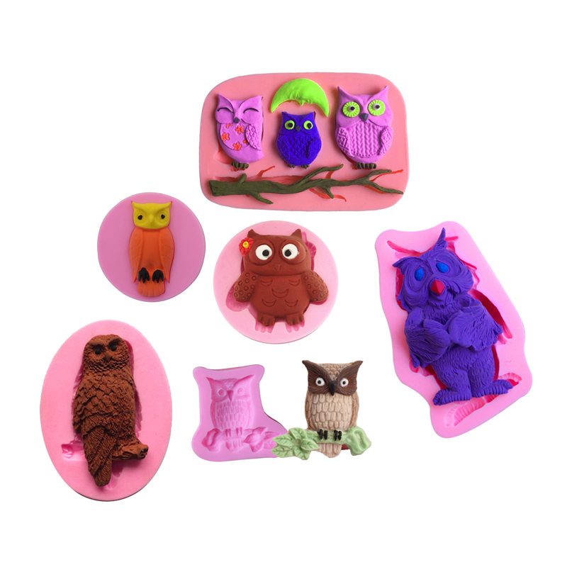 owl სამზარეულო ინსტრუმენტები საშობაო საქორწილო გაფორმება სილიკონის MOLD Fondant Sugar Bow Craft Mould DIY Cake Decorating