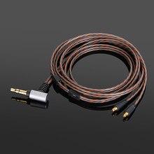 OCC Upgrade zrównoważony posrebrzany kabel Audio do DUNU TITAN 3 TITAN 5 TITAN 6 słuchawki douszne 3.5mm/2.5mm/4.4mm
