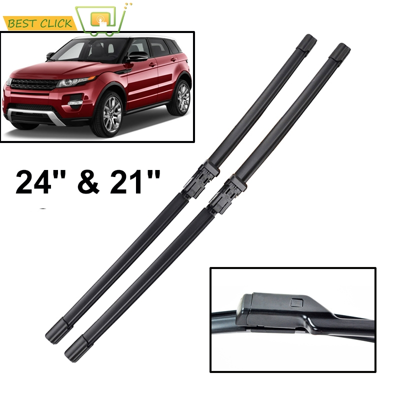 Misima Windshield Windscreen Wiper Blades For Land Rover Range Rover Evoque 2011 2012 2013 2014 2015 2016 2017 Front Wipers(China)