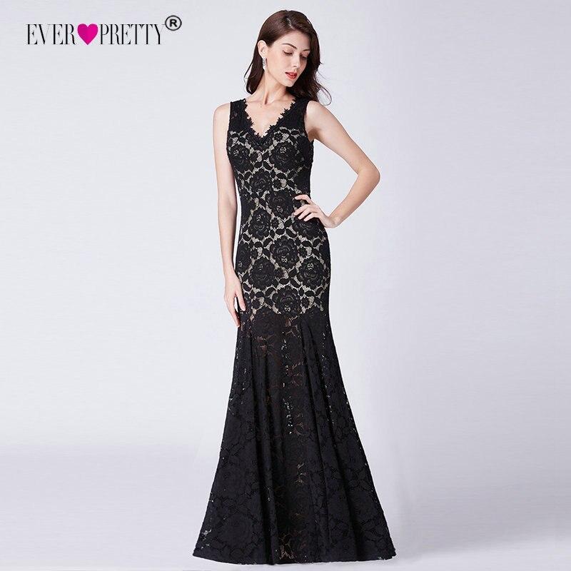 Красный Элегантное Длинное платье русалки черный Вечерние платья Ever Pretty EP07389 халат De Soiree поезд noel V образным вырезом спинки платье с поясом