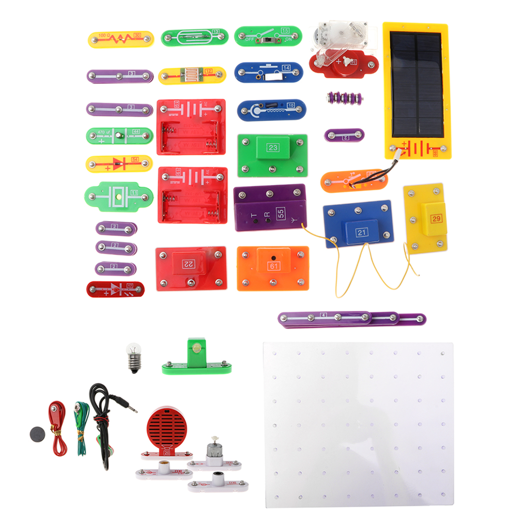 8000-in-1 53pcs Electronics Discovery Learning Kits - DIY Physical Lab Basic Circuit Experiment Science Education Toy - W-6888 copper tape double sided conductive adolescent science education diy electronics smt circuit course materials package parts