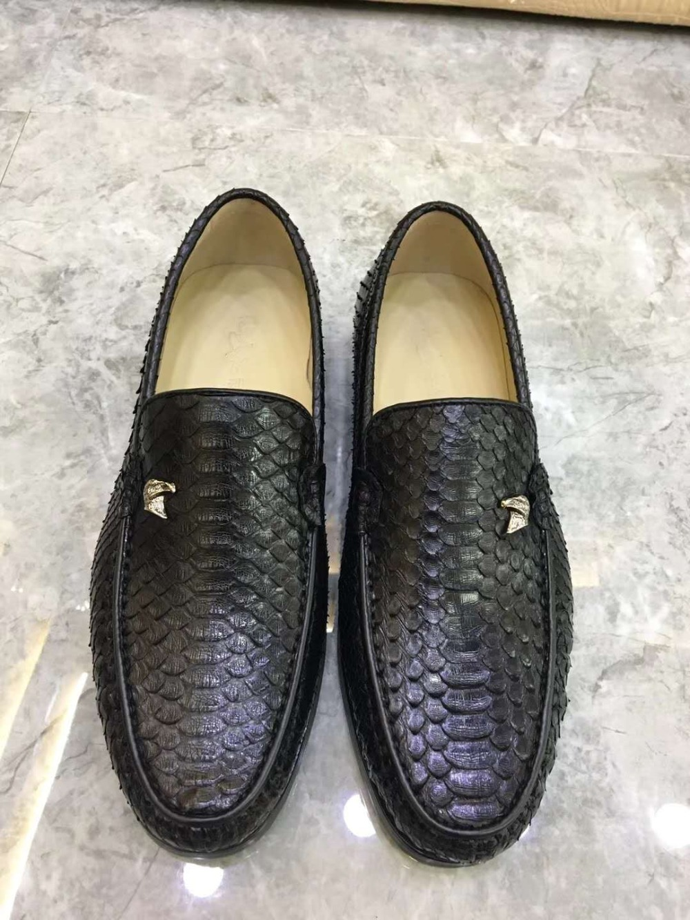 Fashion Style 100% Genuine Real Crocodile Belly Skin Men Shoe Durable Solid Crocodile Skin Men Dress Business Shoe Black Color Free Ship Sophisticated Technologies Men's Shoes