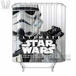 Aplysia star wars cortinas de chuveiro alienígena robô filmes personalizado à prova dwaterproof água tecido cortinas do banheiro para decoração casa