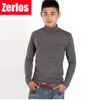2017 Autumn Winter New Men Modal COTTON High Collar Long Sleeved T Shirt Bottoming Tshirts Plus