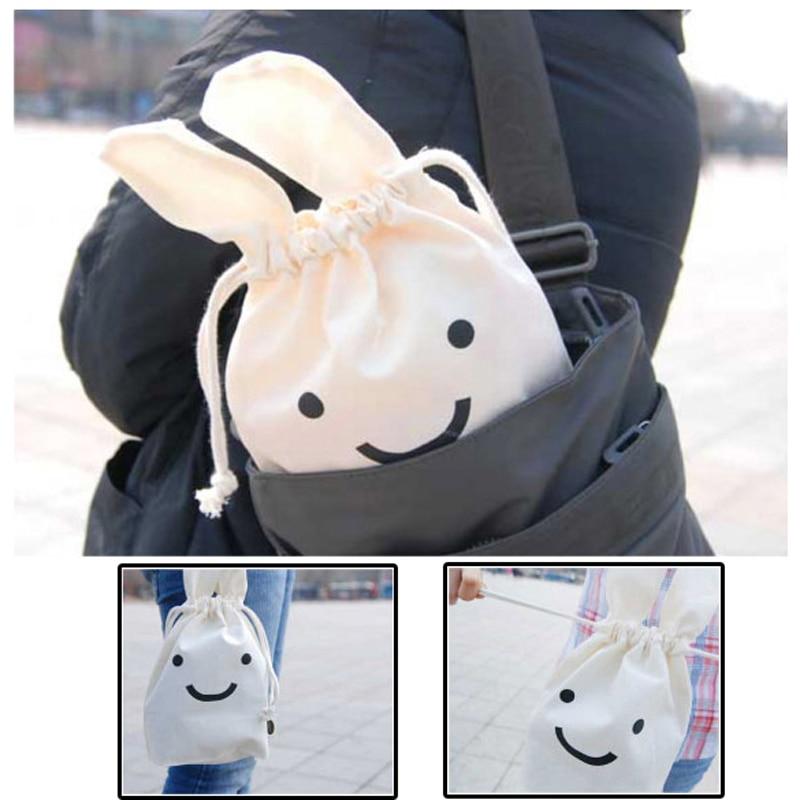 1 PCS Soft Cotton Multifunction Rabbit Shrink Bag Pouch Cute Cosmetic Bag Protable Make up Storage Bags hot Sale