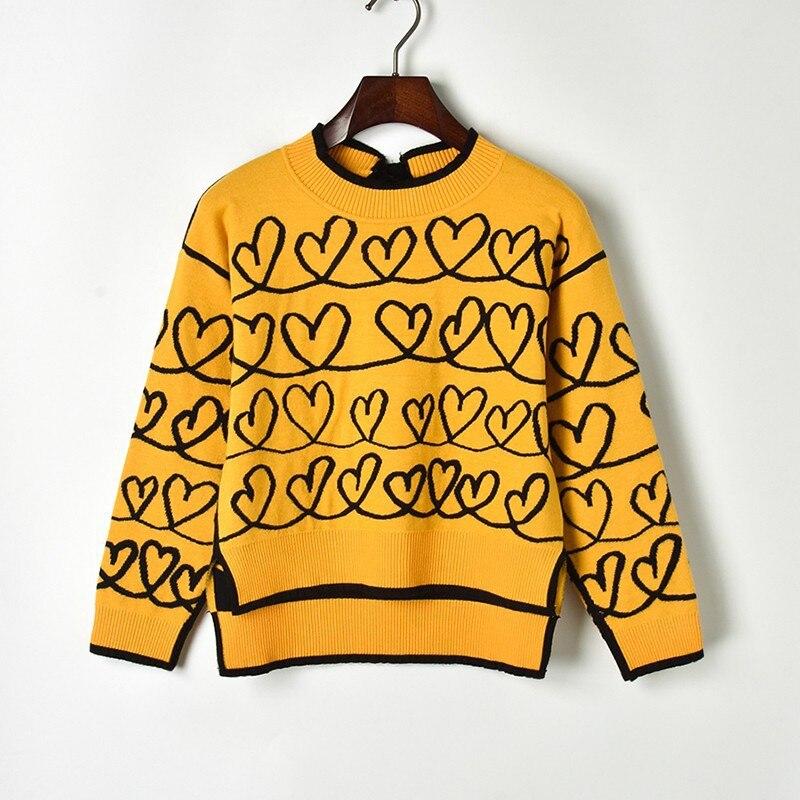 Зимний свитер женский 2019 кашемировый вязаный женский свитер и пуловер с сердечками женский свитер джемпер Pull Femme