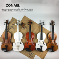 ZONAEL 4 4 Violin Fiddle Stringed Instrument Musical Toy For Beginners High Quality Basswood Body Steel