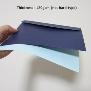 Image 3 - 50 個 190 × 135 ミリメートル色封筒招待ギフト封筒 120gsm 無地/真珠の紙封筒