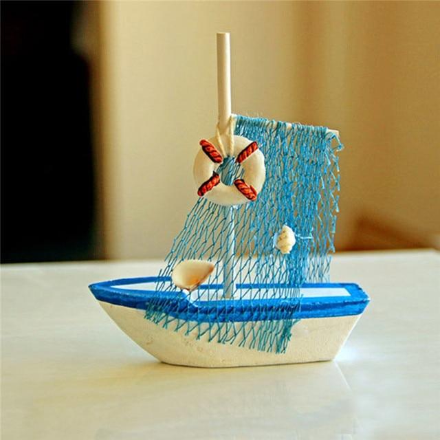 Décoration de maison de bateau bleu en bois nautique marine de style méditerranéen vintage 4