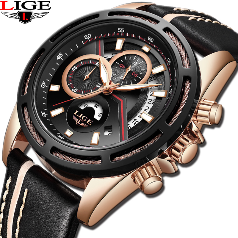 Mens Watches Top Brand LIGE Luxury Male Military Sport Luminous Watch Men Business Quartz-Watch Male Clock Man Relogio Masculino relojes lige mens watches brand luxury men military sport luminous wristwatch male leather quartz watch clock relogio masculino