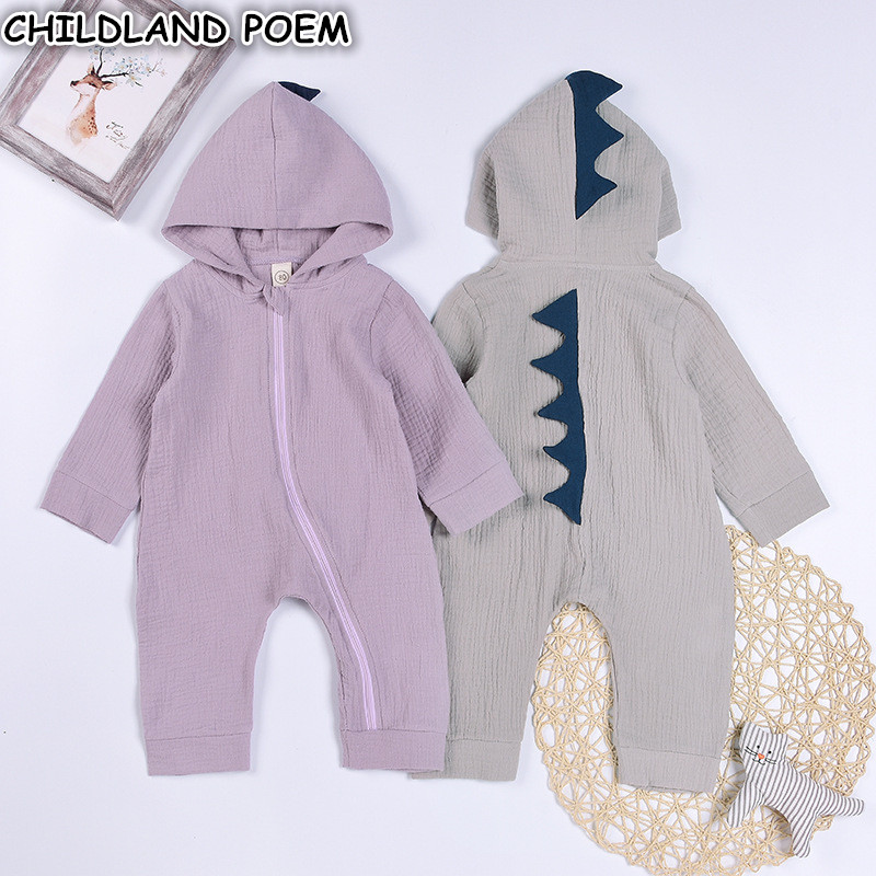 2017 Autumn spring Cotton Dinosaur Baby Romper infant toddler newborn baby boy girls romper Jumpsuits baby overalls clothes 2017 baby girl summer romper newborn baby romper suits infant boy cotton toddler striped clothes baby boy short sleeve jumpsuits