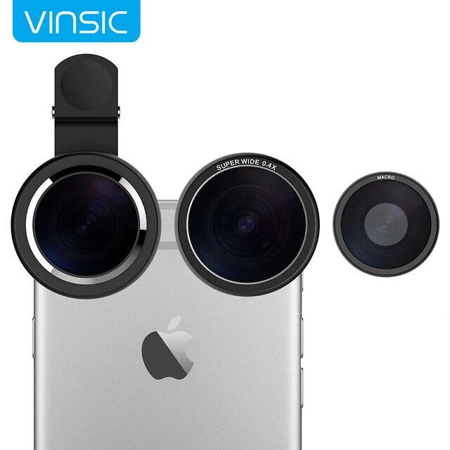 Vinsic Клип На 235 Градусов Рыбий Глаз Объектив, Широкоугольный Объектив, 3 в 1 объектив камеры комплекты для iphone 6 plus iphone 5 5s samsung galaxy