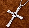 FAST and FURIOUS Dominic Toretto's 925 Sterling Silver Jewelry Cross Pendant Necklace Vin Diesel Free With Silver Chain