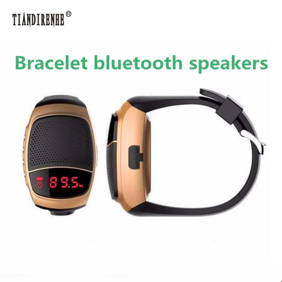 B90 Pro Smart Watch Speaker Portable Hands-free Call TF Card FM Radio Wireless Sport Bluetooth Speakers Bracelet for xiaomi b90 wireless bluetooth speaker smartwatch black