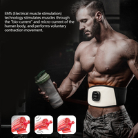 Wireless Electric Vibrating Slimming Belt EMS For Body Chargeable Waist Massage Vibrating Belt Fat Burning Weight Losing Health