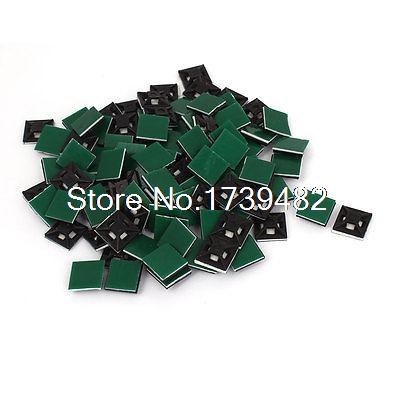 100pcs 13mmx13mm Square Self-Adhesive Cable Tie Mount Bases for 3mm Zip Tie surplice neckline self tie circle dress