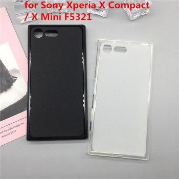 Sprawa miękkiego silikonu telefon Para dla Sony Xperia X Compact/X Mini F5321 luksusowe TPU Fundas pełna obudowa czarne obudowy Coque
