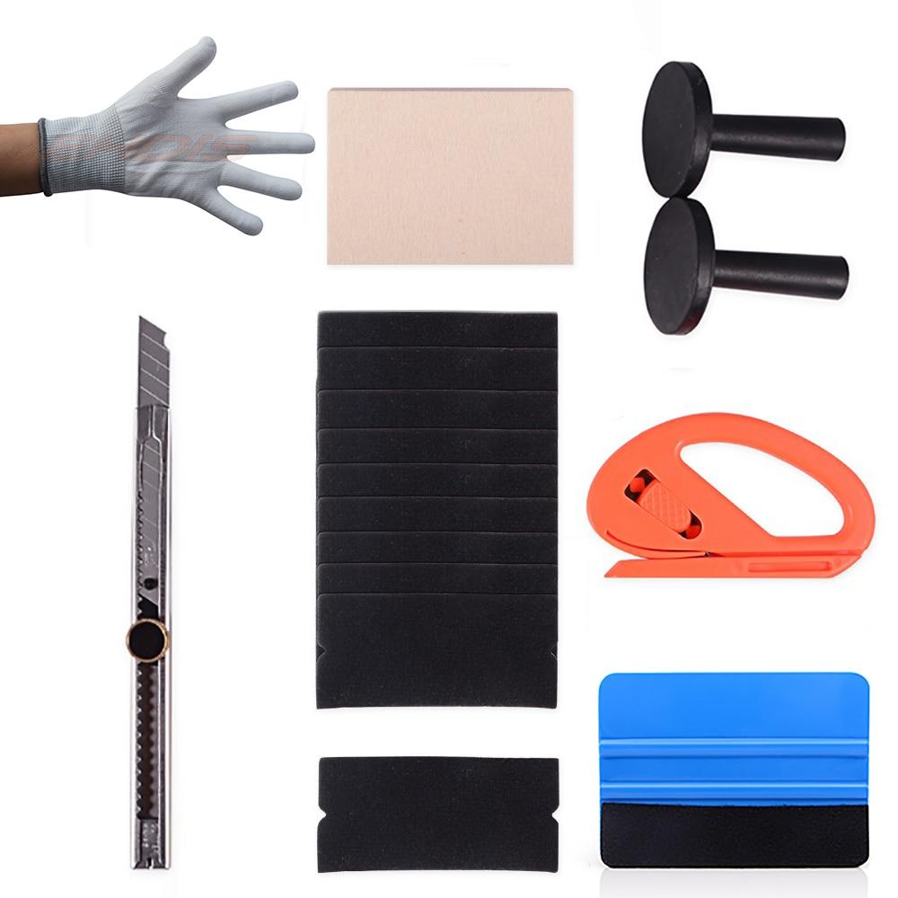 6Pcs Car Vinyl Wrap Application Kit Felt Edge Squeegee Zippy Cutter Window Tint