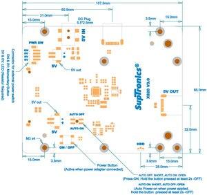 Image 5 - جديد X820 V3.0 USB 3.0 SATA HDD/SSD تخزين لوح تمديد + حافظة لتوت العليق Pi 3 B +