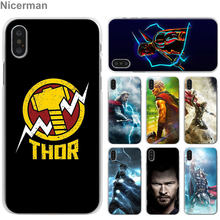 Thor marvel avengers capas de telefone para apple iphone 7 8 plus 6s mais x xs xr xs max 5 5S caso de telefone celular coque(China)